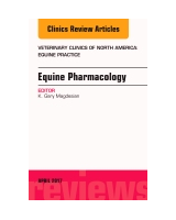 Equine Pharmacology, An Issue of Veterinary Clinics of North America: Equine Practice, Volume 33-1